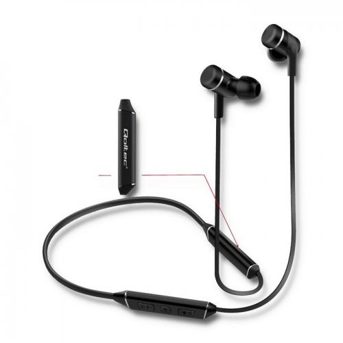 2ad473cd1d7be Słuchawki sportowe PREMIUM bezprzewodowe magnetyczne dokanałowe | BT |  mikrofon | long life |Czarne